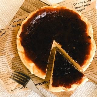 米粉でグルテンフリー♪簡単バスクチーズケーキ♡