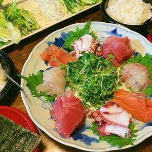 好きなものを好きなだけ☆手巻き寿司の具