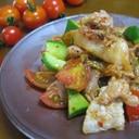 豚キムチに夏野菜