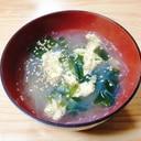 包丁不要☆春雨と卵とわかめの中華スープ
