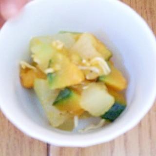離乳食☆冬瓜とカボチャとシラスの煮物