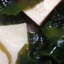 竹の子とわかめの味噌汁