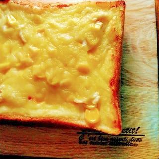 ちょっと贅沢に♥カマンベールとコーンのトースト