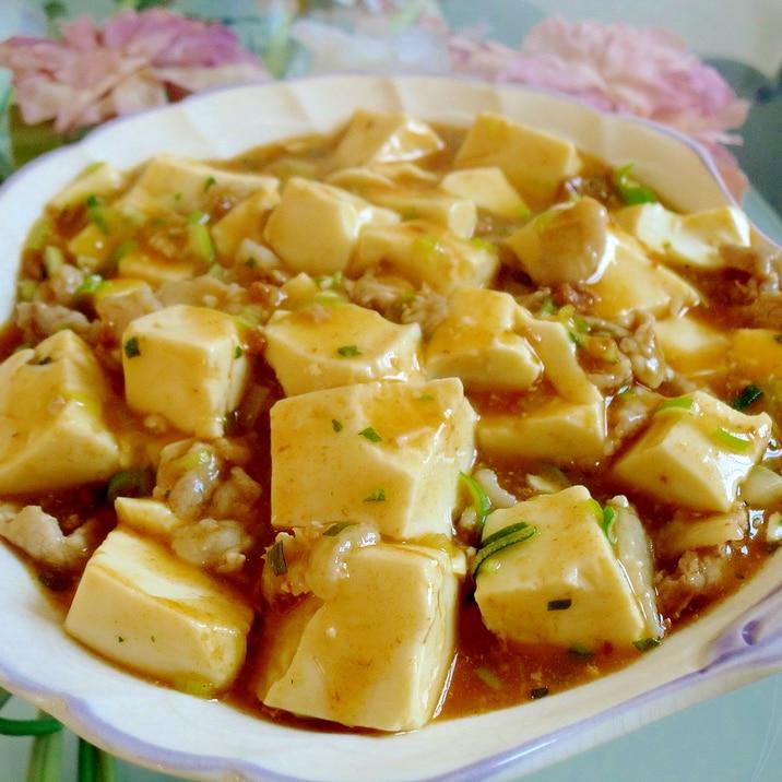 市販の元をアレンジで美味しく♪麻婆豆腐