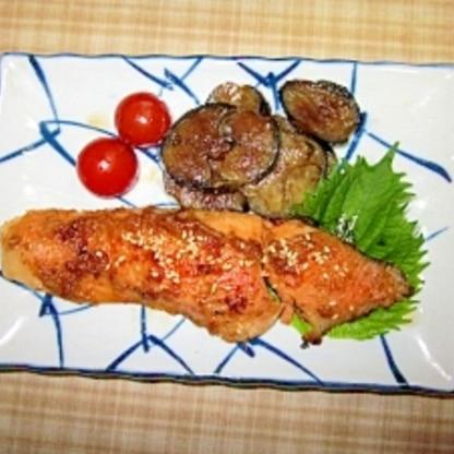 セサミンが取れる鮭のごま味噌焼き