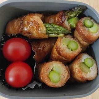 卵焼き器で簡単♪お弁当にアスパラの肉巻き