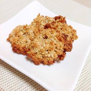 小麦粉・バター不要!オートミールクッキー