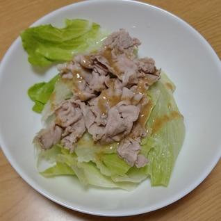 レタスと豚しゃぶサラダ