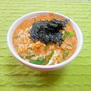赤から鍋の残り汁で雑炊
