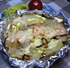 フライパンで鮭のチーズ焼き