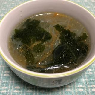 あっという間に完成! わかめと春雨の中華スープ