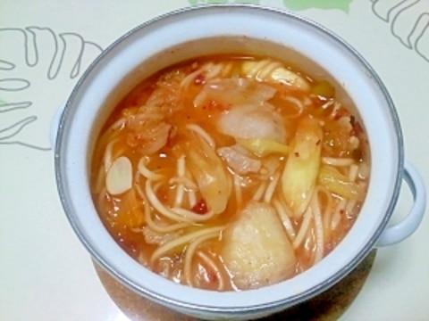 辛味噌キムチうどん++