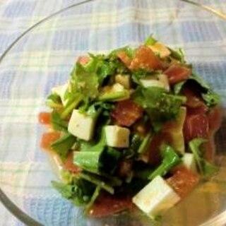 トマトとモッツァレラとルッコラの変わりカプレーゼ
