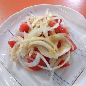 母の日に✿新玉ねぎとトマトのごまだれサラダ