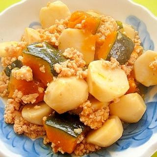 里芋とかぼちゃの鶏そぼろ煮