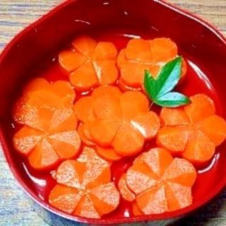 飾り切りニンジン☆煮