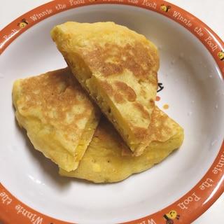 もちもち♪かぼちゃと豆腐のパンケーキ