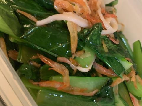 干し海老の小松菜炒め