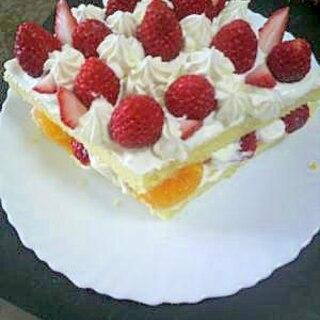 イチゴたっぷり、ひな祭りケーキ