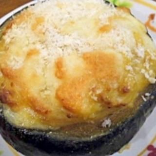 まるごとかぼちゃのグラタン~豆乳版~