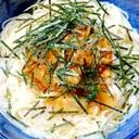 シンプルに、キムチだけのせ素麺