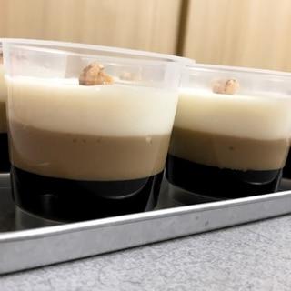 三色ミルクコーヒーゼリー
