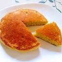 グリーンピースペーストでパンケーキ