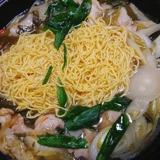 青ネギ大量ねぎ塩ラーメン鍋
