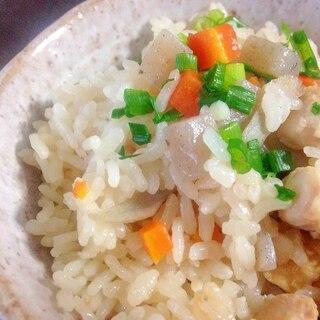 基本の鶏炊き込みご飯☆美味しい秋のご馳走