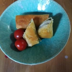 焼いてサクサクモチモチ☆大葉とチーズのお餅春巻き!