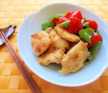 鶏むね肉とパプリカピーマンの焼き浸し