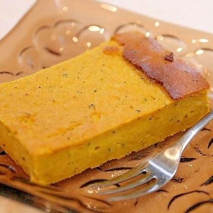 手間いらず!かぼちゃチーズケーキ