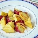 黒胡椒でピリリッ! サツマイモのバター焼き