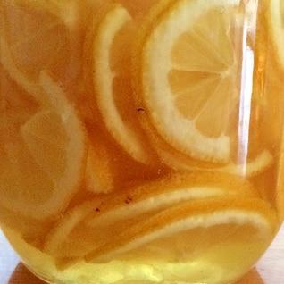 レモンの氷砂糖漬け