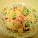 簡単☆あと1品に☆野菜入り卵サラダ