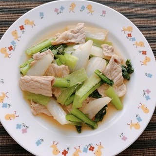 豚肉と小松菜の生姜焼き