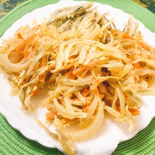 サクサクꕤごぼうと野菜のかき揚げ