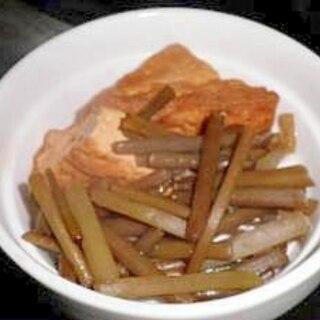 山ふきと厚揚げの煮物