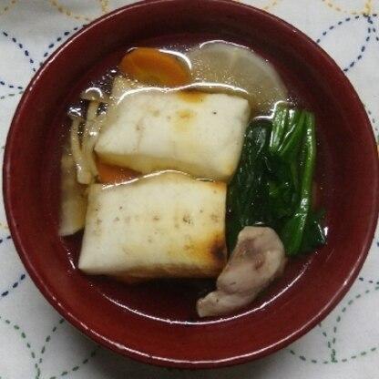 お正月はほぼお餅だけのシンプル雑煮でしたが、具入りも美味しいですね(*^^*)レシピありがとうございました。