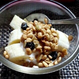 バナナと塩豆腐クリーム