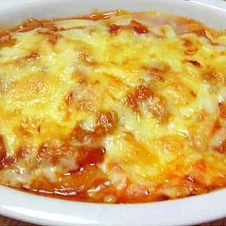 トマト&ホワイトソースのラザニア風グラタン