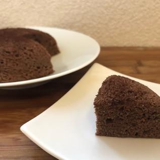 電子レンジで低糖質なココアの生おから蒸しケーキ