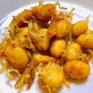 大豆とじゃこのカリカリ甘辛炒め
