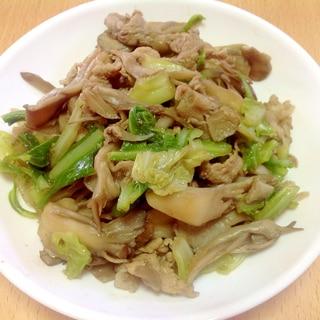 豚肉と舞茸・キャベツの肉野菜炒め♪