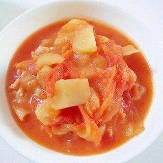 豚肉ときゃべつと玉葱と人参と馬鈴薯のトマトスープ