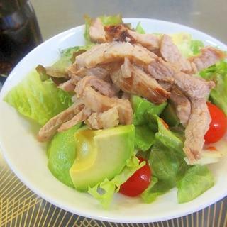 アボカドとローストポークのレタスサラダ