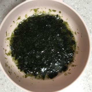 初めての海苔☆離乳食