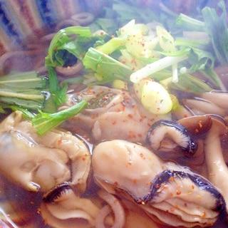 「牡蠣そば」(^ー^)ノ