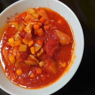 鳥ももにくのトマト煮