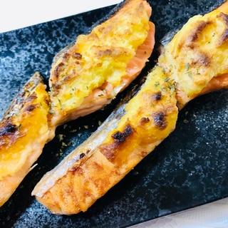 鮭のマッシュポテト焼き